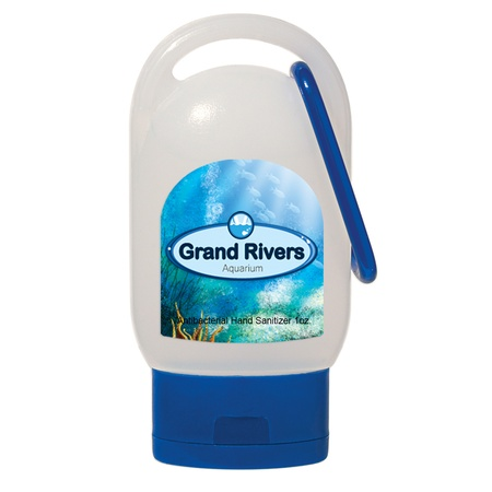 Promotional Hand Sanitizer with Carabiner - 1 oz.