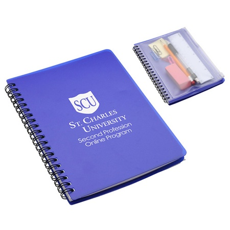 Hardcover Logo Notebook with Pouch
