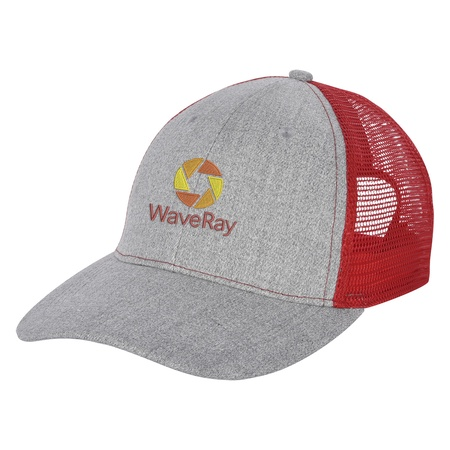 Hayden Heathered Mesh Back Custom Baseball Caps