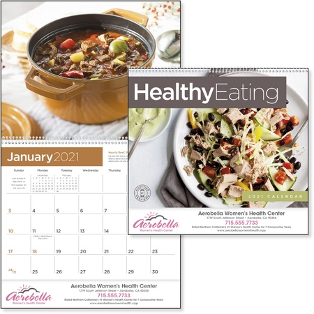 Healthy Eating 2021 Promotional Calendars