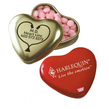 Custom Heart Shaped Tin of Mints