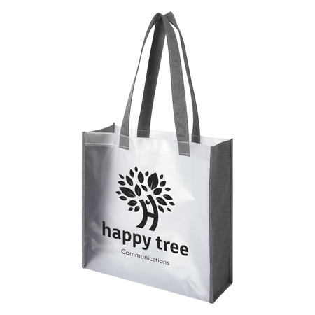 Heathered Frost Custom Tote Bags