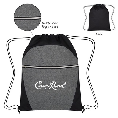 Heathered Two-Tone Drawstring Promotional Sports Pack