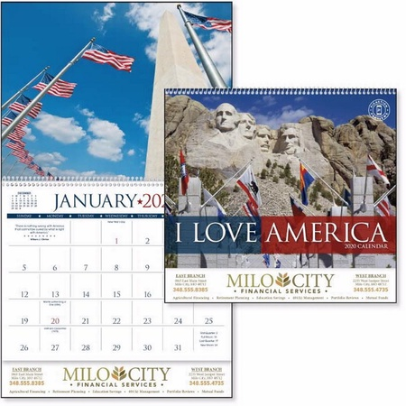 I Love America Calendar - 2020