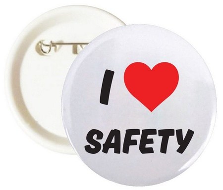 I Love Safety Buttons