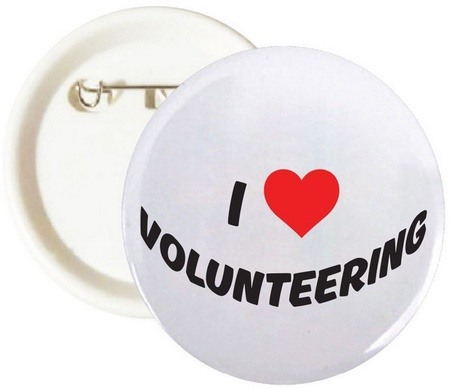 I Love Volunteering Buttons