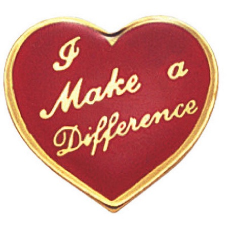 I Make A Difference Heart Lapel Pin