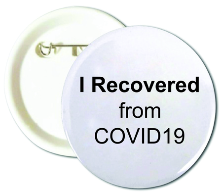 I Recovered From COVID19 Buttons