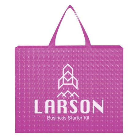 Illusion Laminated Non-Woven Tote Bags with Imprinting
