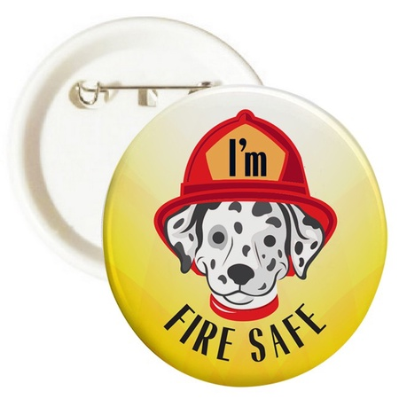 I'm Fire Safe Buttons
