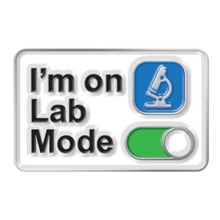 I'm On Lab Mode Lapel Pins