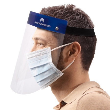 Imprinted Plastic Face Shield With Anti-Fogging Protective Coating