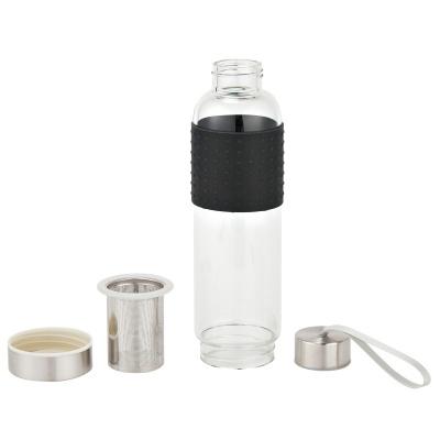 Custom 18 oz., Infuser Glass Bottles