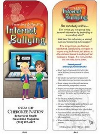 Internet Bullying Bookmark