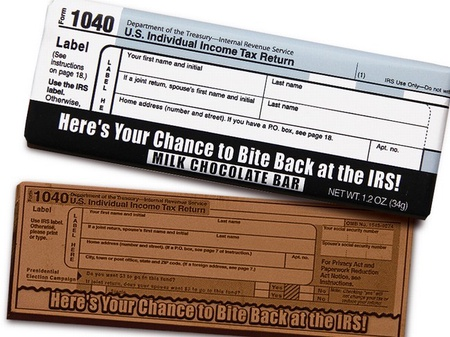 IRS 1040 Chocolate Bar
