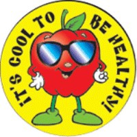 It's Cool To Be Healthy Stickers
