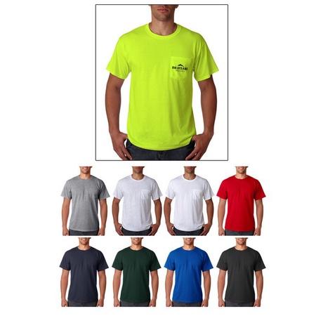 Jerzees Adult Heavyweight Blend Pocket T-Shirt