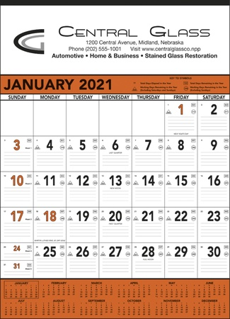 Jumbo Commercial 2021 Promotional Wall Calendars