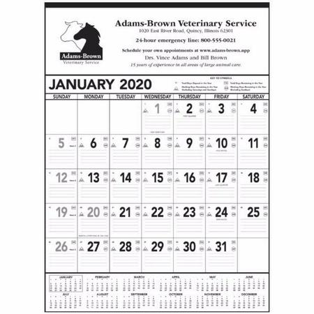 Jumbo Commercial Calendar - 2020