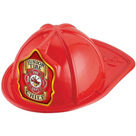 Junior Fire Chief Red Plastic Hats