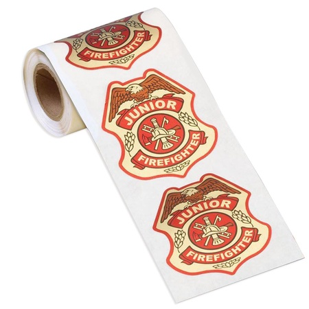 Junior Firefighter Badge Stickers