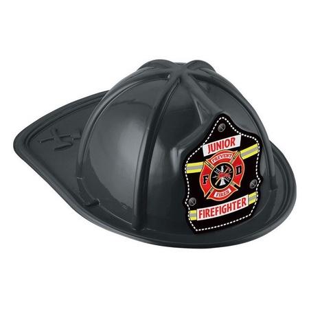 Junior Firefighter Black Plastic Hats