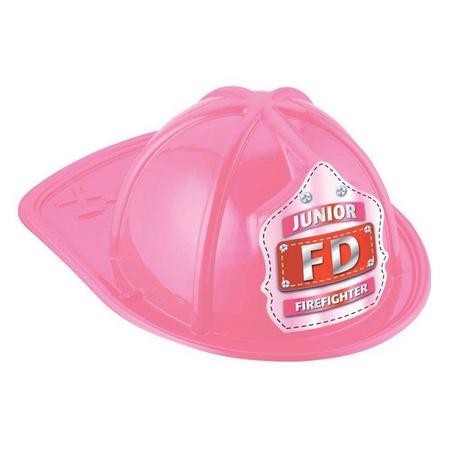 Junior Firefighter Pink Plastic Fire Helmet