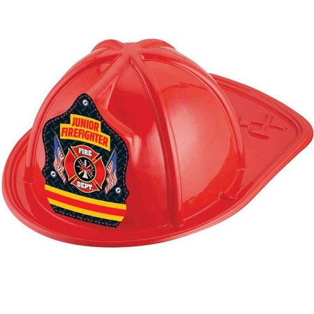 Junior Firefighter Red Plastic Hats