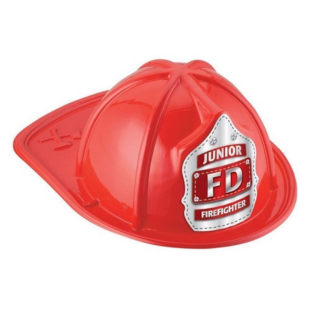 Junior Firefighter Red Plastic Fire Helmet