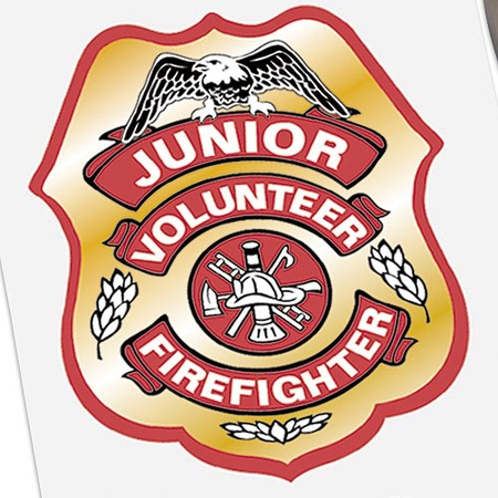 Junior Volunteer Firefighter Badge Stickers