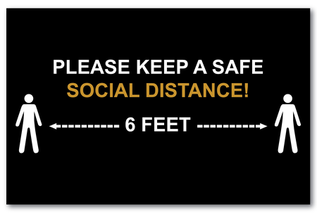 """Keep Your Social Distance 17"""" x 11"""" Posters"""