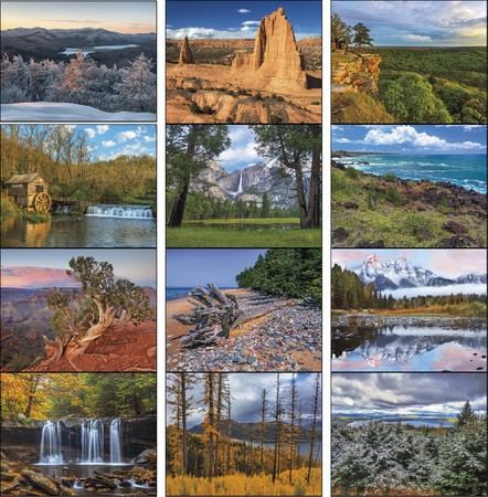 Landscapes of America Custom Economy 2021 Wall Calendars