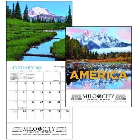 Landscapes of America Personalized 2021 Mini Calendars