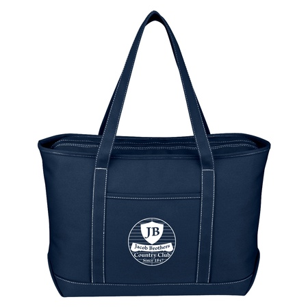 Large Cotton Canvas Yacht Tote with Imprint