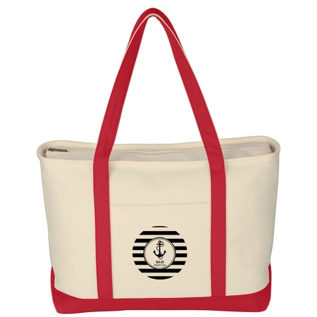 Large Heavy Cotton Canvas Boat Totes with Logo