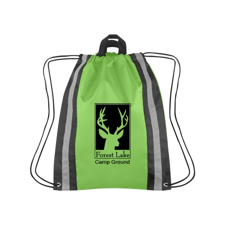 Large Reflective Custom Drawstring Backpacks