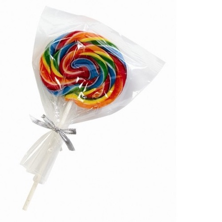 Custom Printed Large Swirl Lollipops