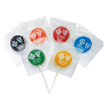 Lollipops with Custom Printed Wrappers