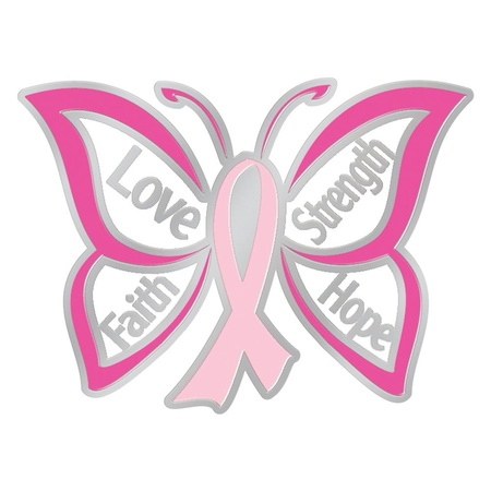 Love, Strength, Faith Hope Butterfly Lapel Pins