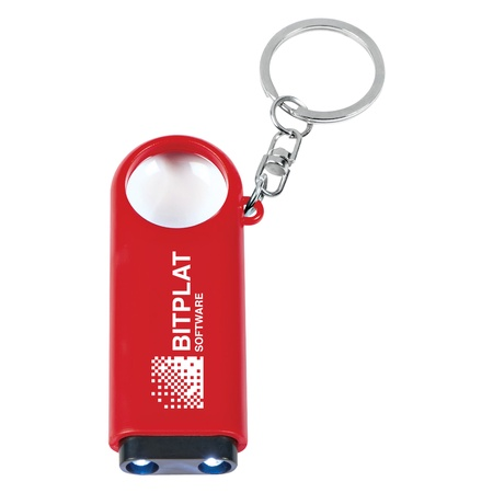 Magnifier & LED Light Key Chain