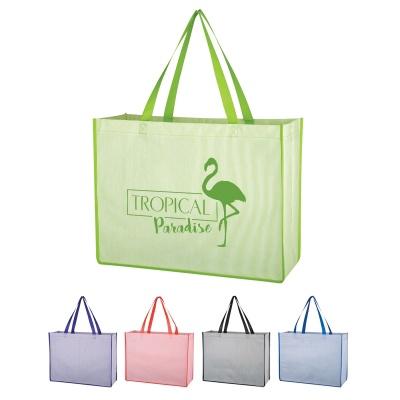 Matte Laminated Bahama Tote Bag with Logo