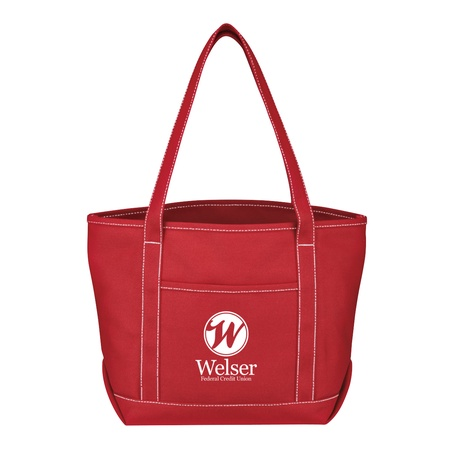 Medium Cotton Canvas Promotional Yacht Totes
