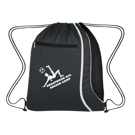 Mesh Accent Logo Drawstring Sports Pack