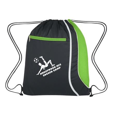 Mesh Accent Logo Drawstring Sports Pack