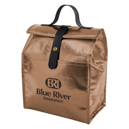 Personalized Metallic Non-Woven Roll Lunch Bag