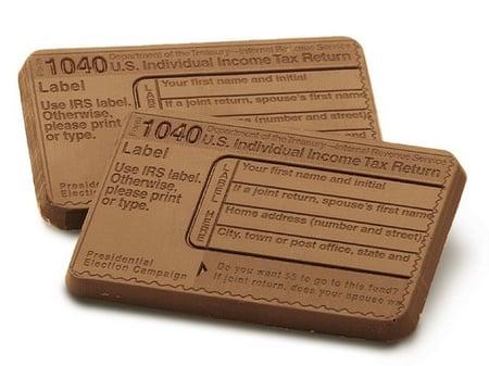 Mini 1040 Tax Form Chocolate Bar