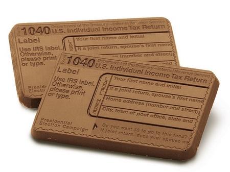 Mini 1040 Tax Form Chocolate Bars