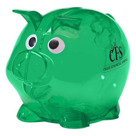 Mini Plastic Piggy Banks with Custom Imprinting