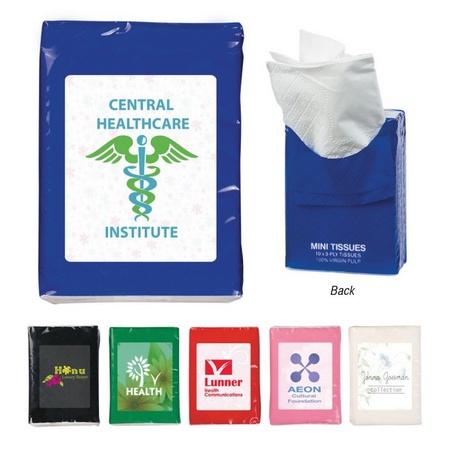 Mini Tissues in Custom Packet