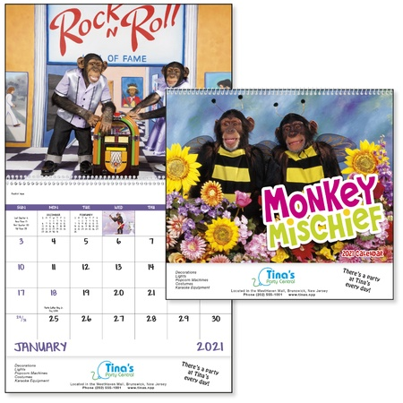 Monkey Mischief Custom Calendars - 2021